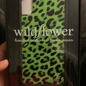 iPhone X wildflower phone case